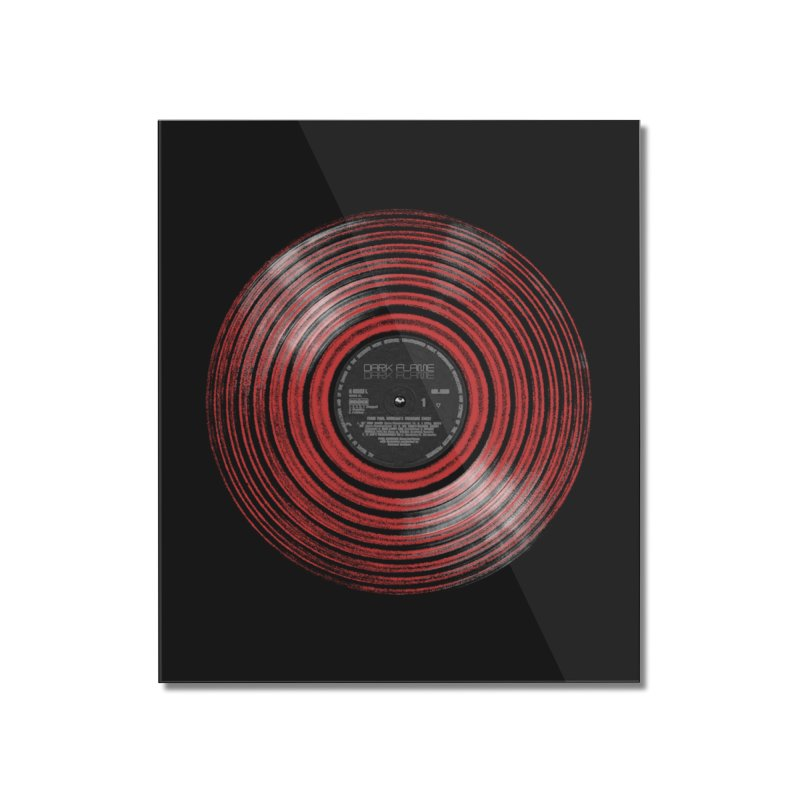Dark Flame Vinyl Home Mounted Acrylic Print by bulo