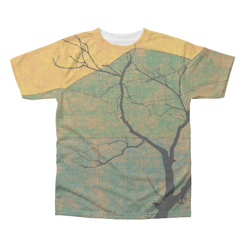 Lone Tree (rework) Men's Triblend All Over Print by bulo