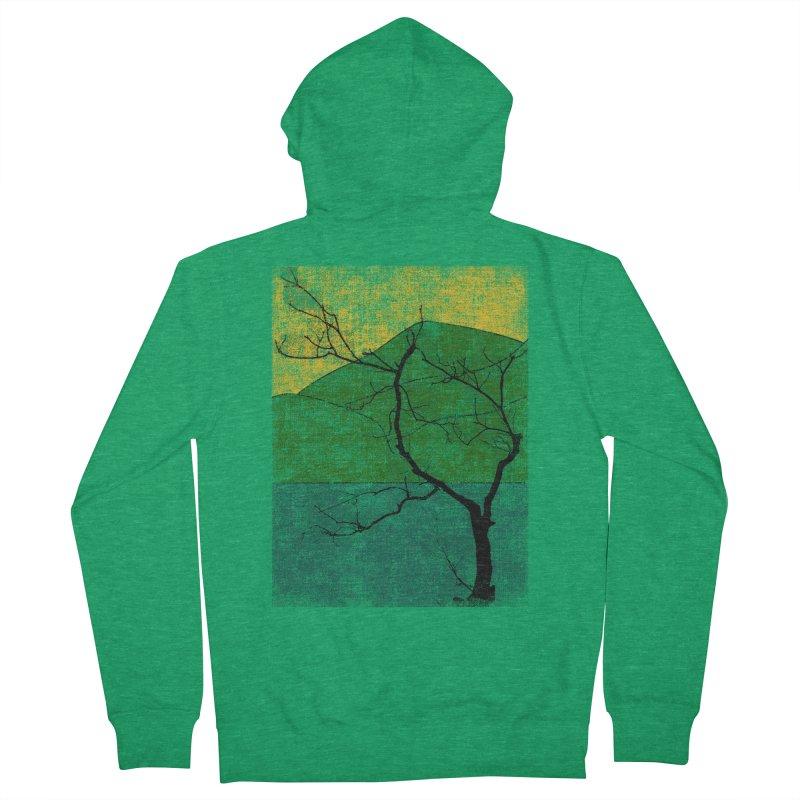 Lone Tree (rework) Men's Zip-Up Hoody by bulo