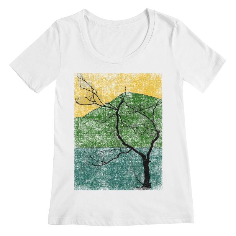 Lone Tree (rework) Women's Scoopneck by bulo