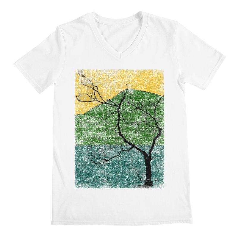 Lone Tree (rework) Men's V-Neck by bulo