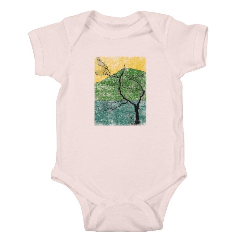 Lone Tree (rework) Kids Baby Bodysuit by bulo