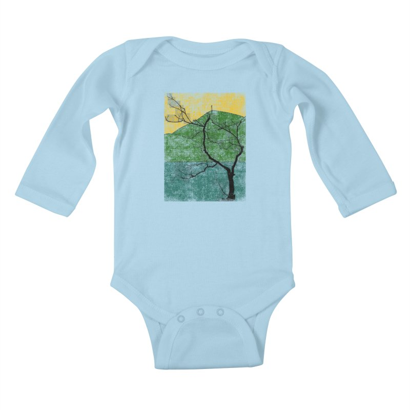 Lone Tree (rework) Kids Baby Longsleeve Bodysuit by bulo