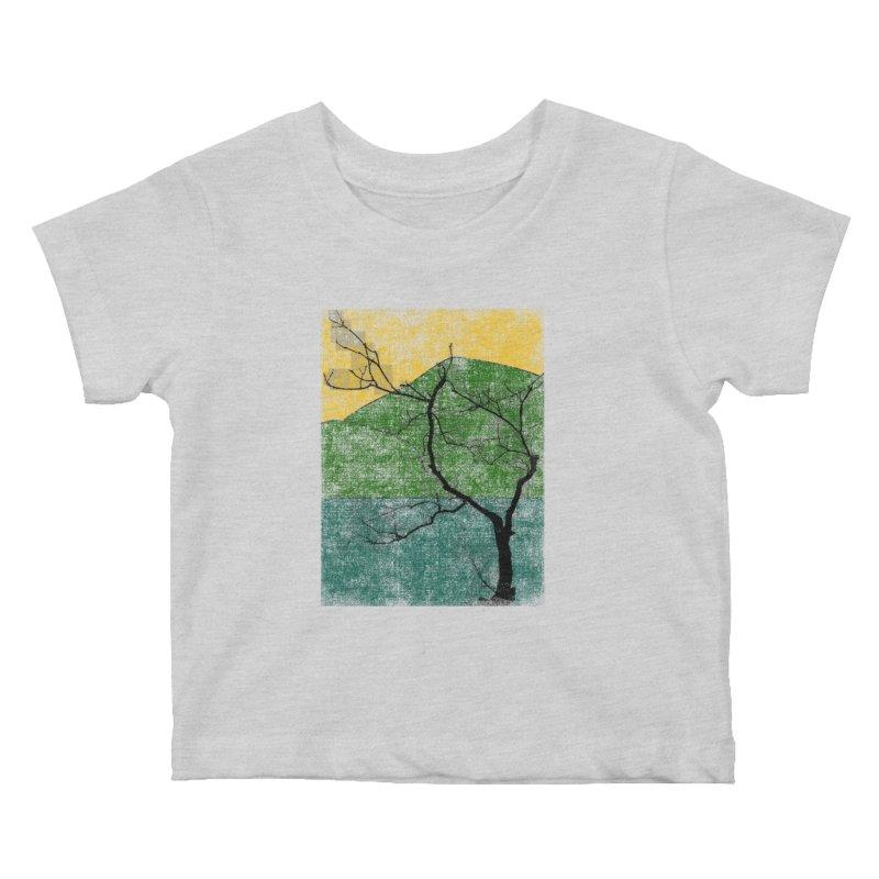 Lone Tree (rework) Kids Baby T-Shirt by bulo