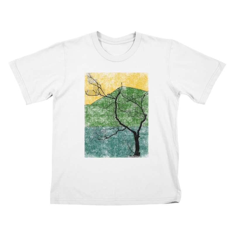 Lone Tree (rework) Kids T-Shirt by bulo