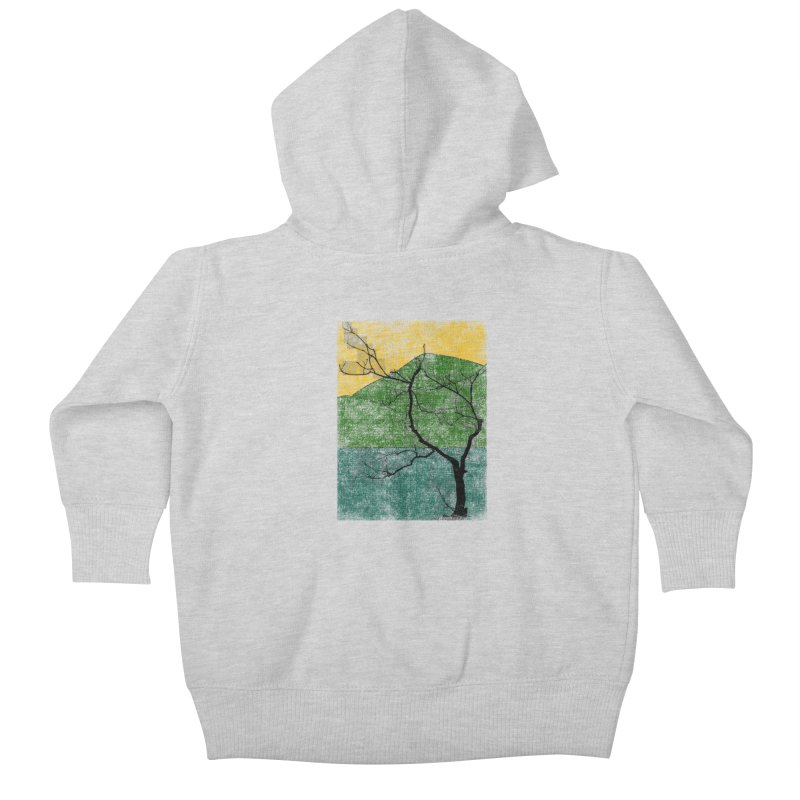 Lone Tree (rework) Kids Baby Zip-Up Hoody by bulo