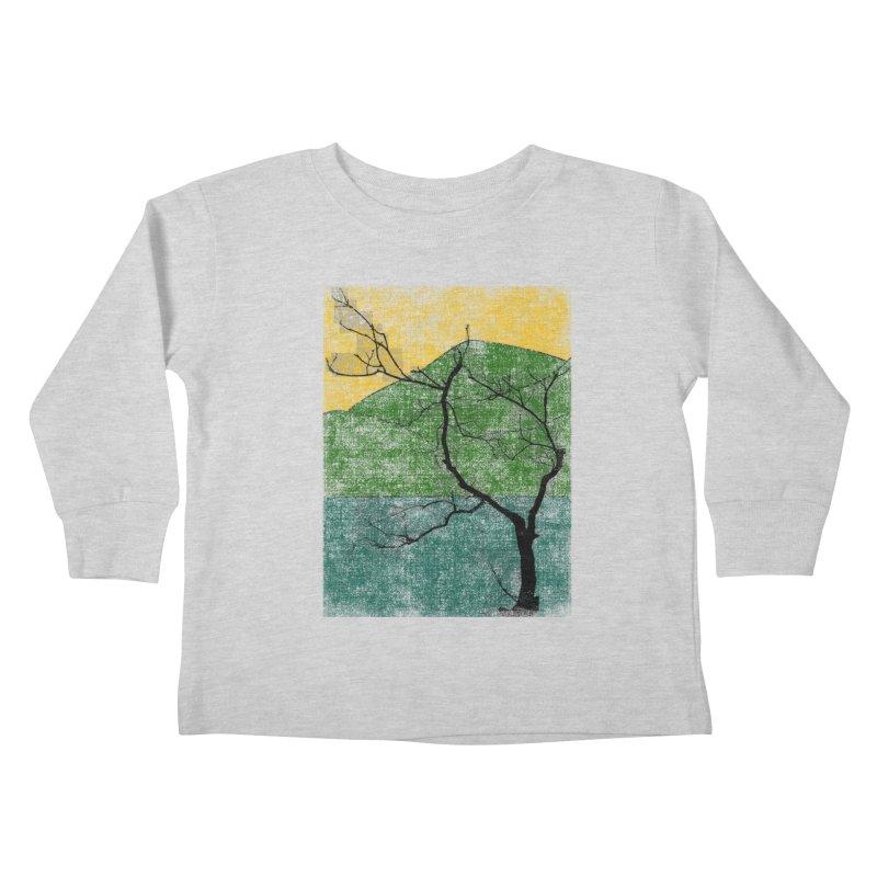Lone Tree (rework) Kids Toddler Longsleeve T-Shirt by bulo