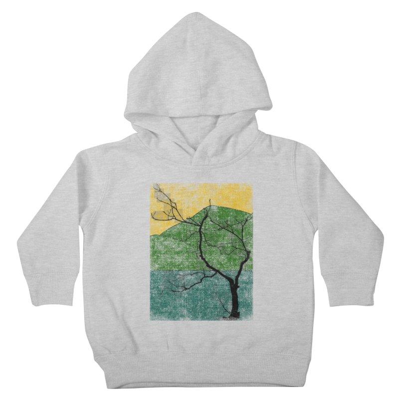 Lone Tree (rework) Kids Toddler Pullover Hoody by bulo