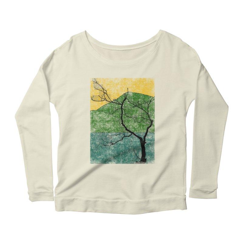 Lone Tree (rework) Women's Longsleeve Scoopneck  by bulo