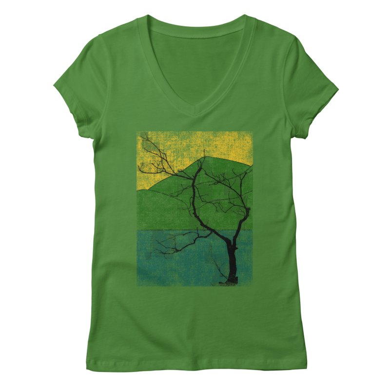 Lone Tree (rework) Women's V-Neck by bulo