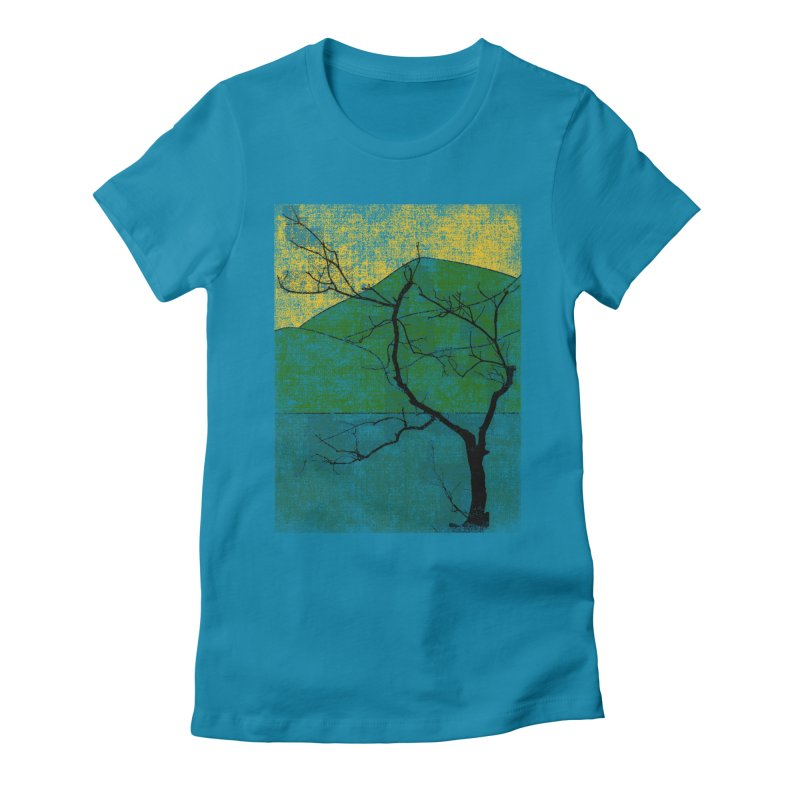 Lone Tree (rework) Women's Fitted T-Shirt by bulo