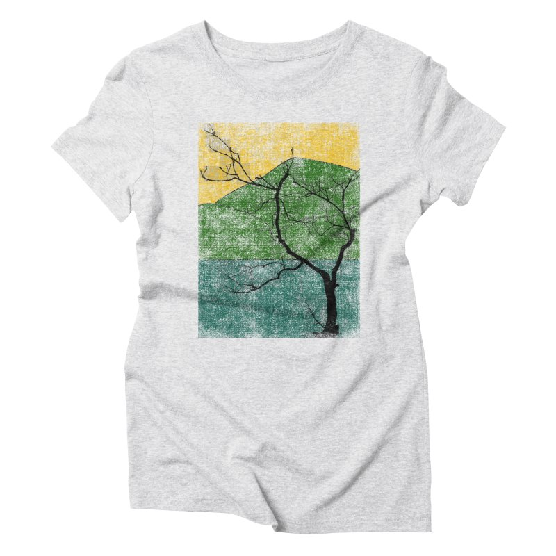 Lone Tree (rework) Women's Triblend T-Shirt by bulo
