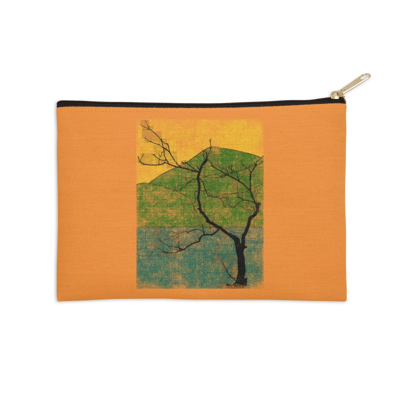 Lone Tree (rework) Accessories Zip Pouch by bulo
