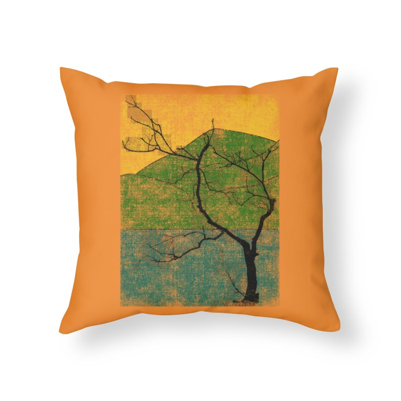 Lone Tree (rework) Home Throw Pillow by bulo