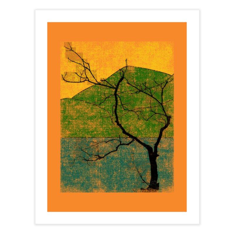 Lone Tree (rework) Home Fine Art Print by bulo
