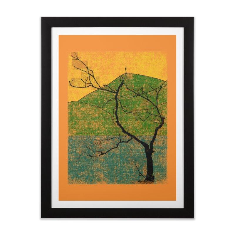 Lone Tree (rework) Home Framed Fine Art Print by bulo