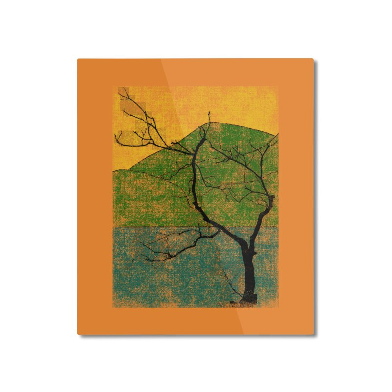 Lone Tree (rework) Home Mounted Aluminum Print by bulo