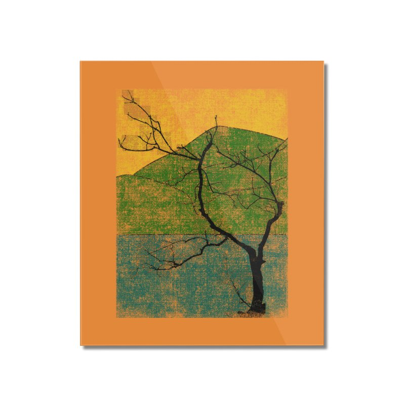 Lone Tree (rework) Home Mounted Acrylic Print by bulo