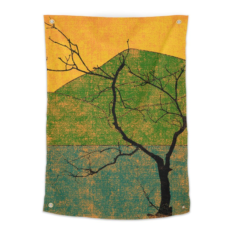 Lone Tree (rework) Home Tapestry by bulo