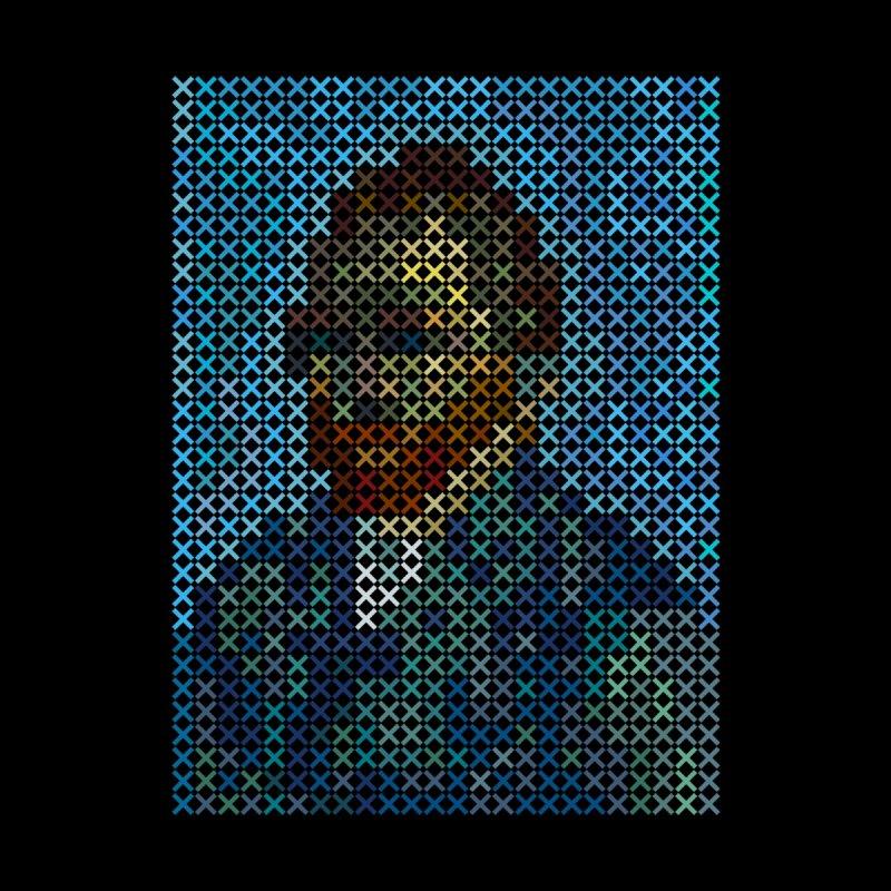Van Gogh (cross stitching portrait) by bulo