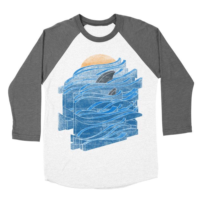 Shark Blues Women's Baseball Triblend T-Shirt by bulo