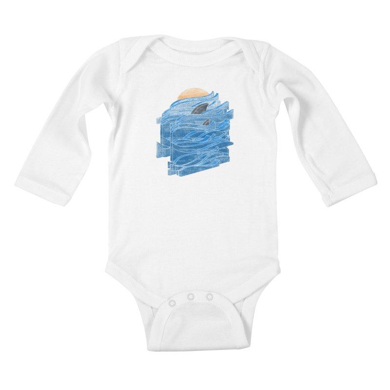Shark Blues Kids Baby Longsleeve Bodysuit by bulo