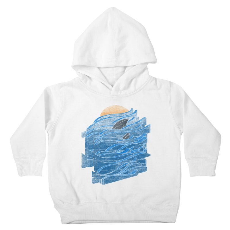 Shark Blues Kids Toddler Pullover Hoody by bulo