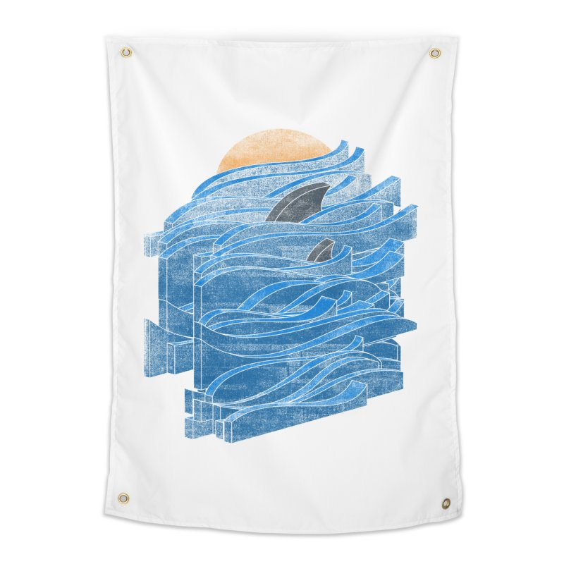Shark Blues Home Tapestry by bulo
