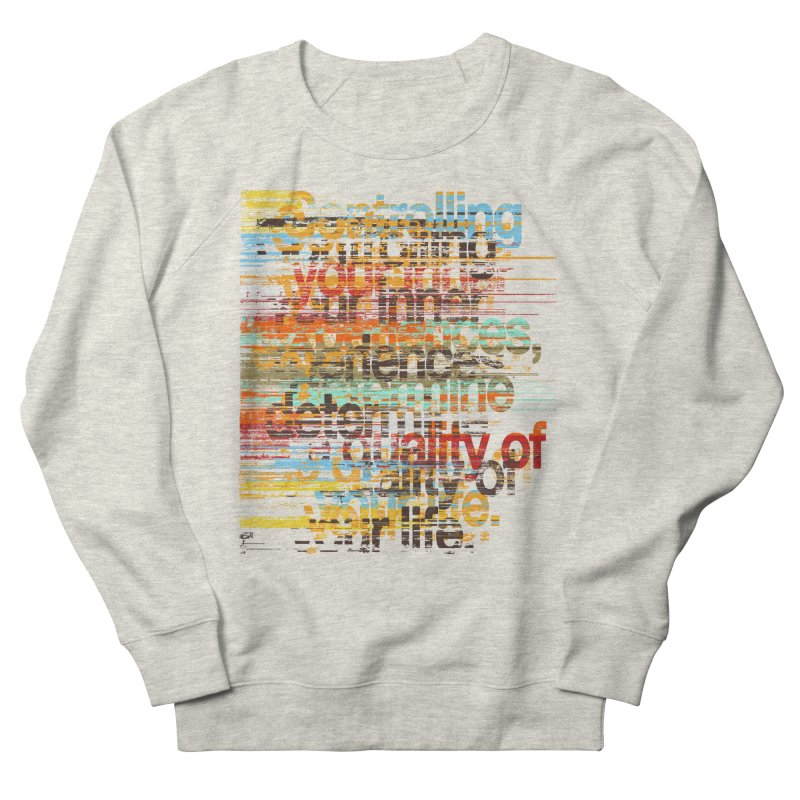 Distortion Men's French Terry Sweatshirt by bulo