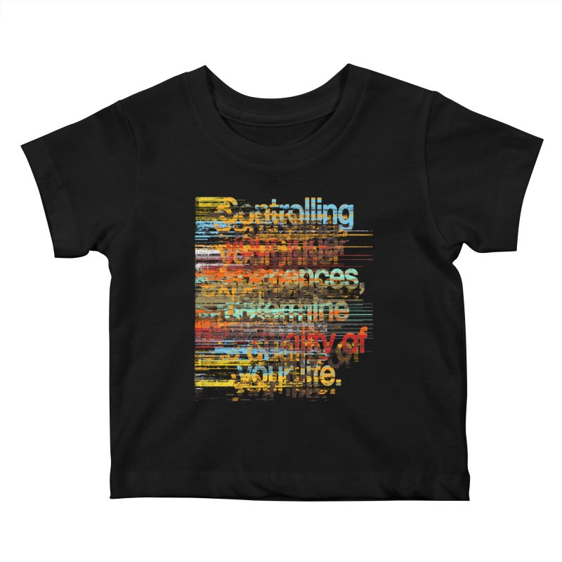 Distortion Kids Baby T-Shirt by bulo