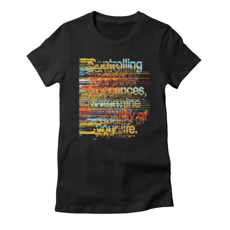 Distortion Women's Fitted T-Shirt by bulo