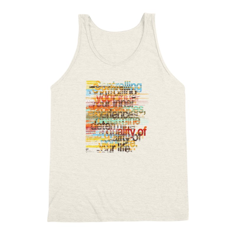 Distortion Men's Triblend Tank by bulo