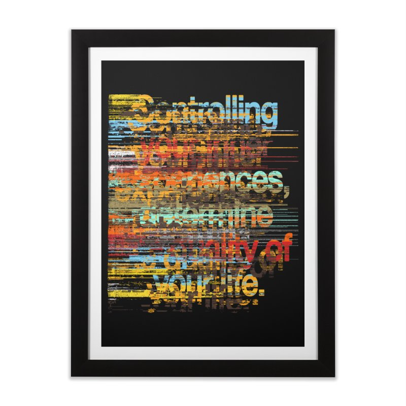 Distortion Home Framed Fine Art Print by bulo