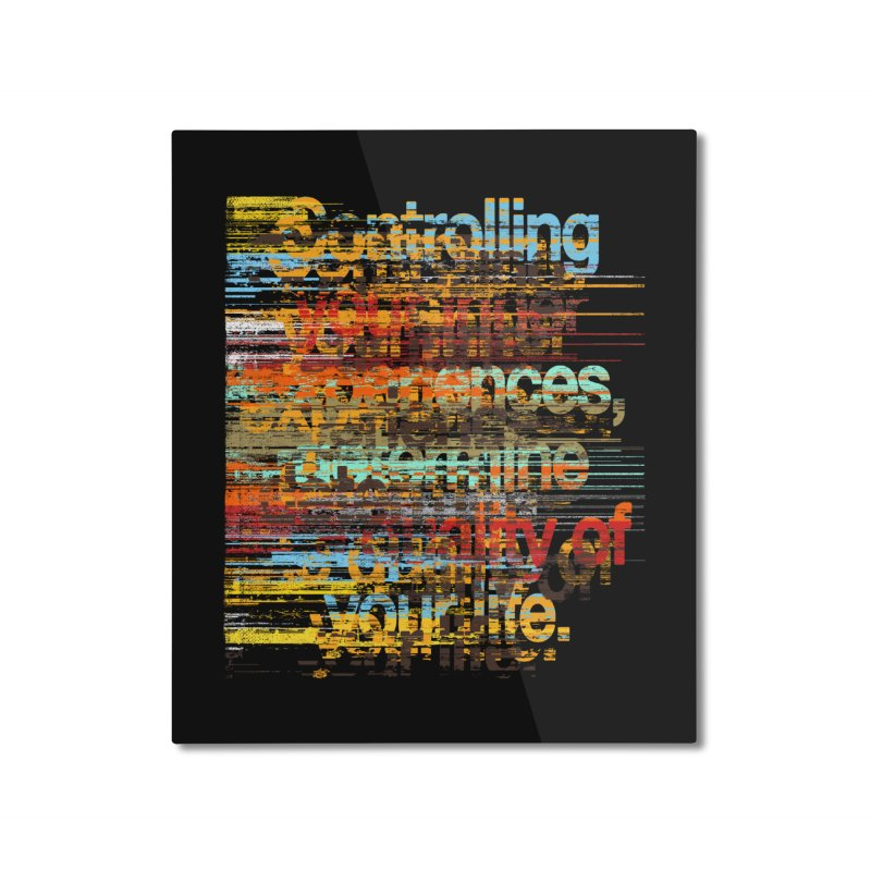 Distortion Home Mounted Aluminum Print by bulo