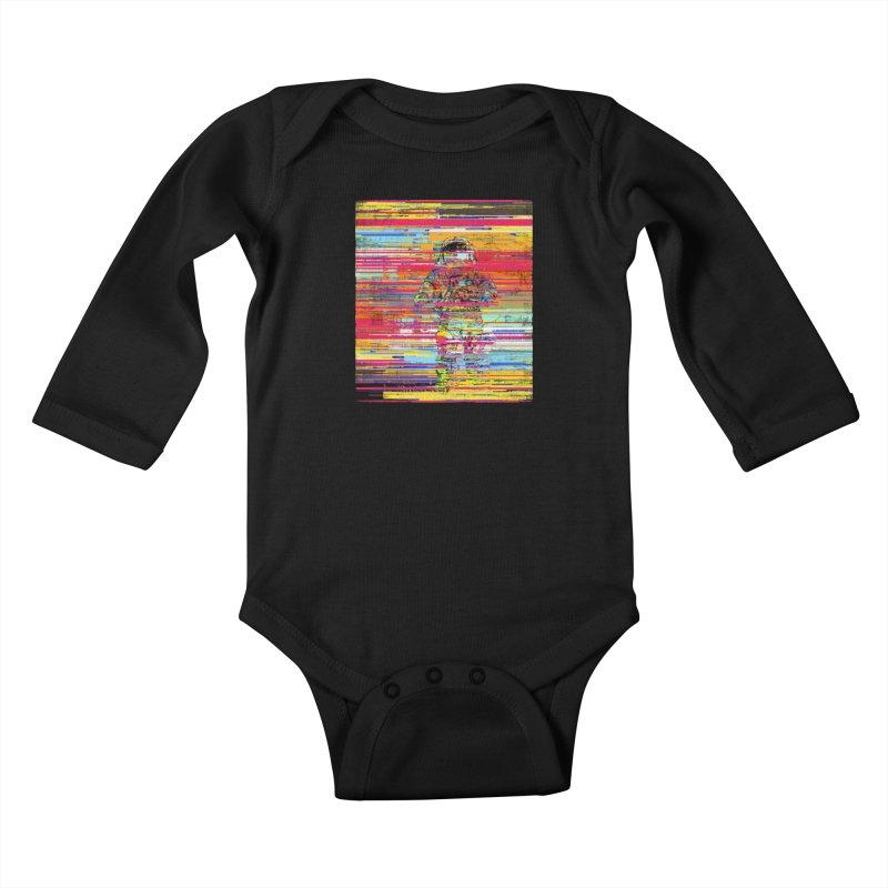 Walk On Moon Kids Baby Longsleeve Bodysuit by bulo