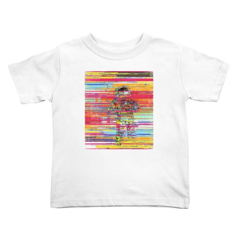 Walk On Moon Kids Toddler T-Shirt by bulo