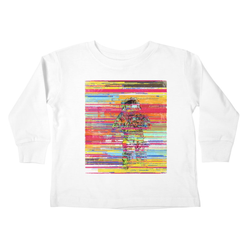 Walk On Moon Kids Toddler Longsleeve T-Shirt by bulo