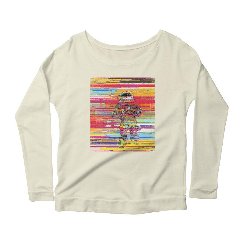 Walk On Moon Women's Scoop Neck Longsleeve T-Shirt by bulo