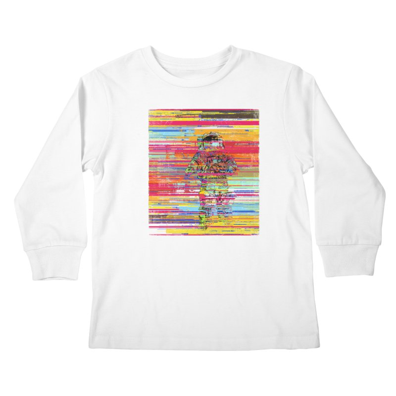 Walk On Moon Kids Longsleeve T-Shirt by bulo