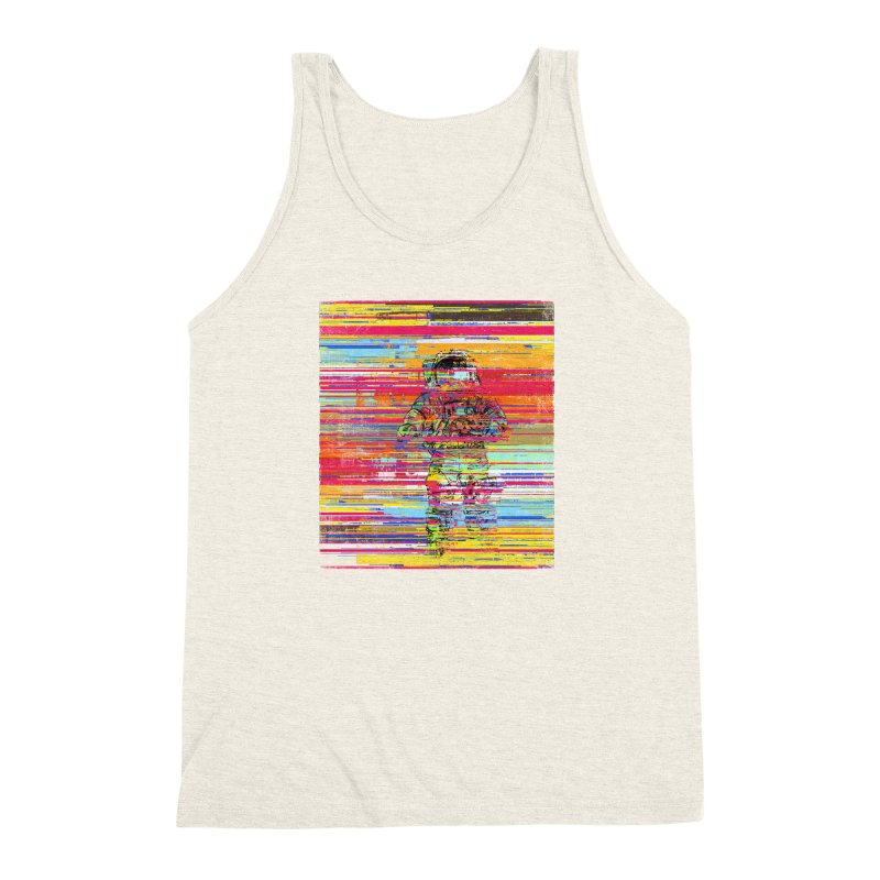 Walk On Moon Men's Triblend Tank by bulo