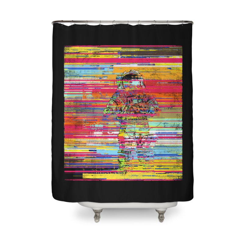 Walk On Moon Home Shower Curtain by bulo