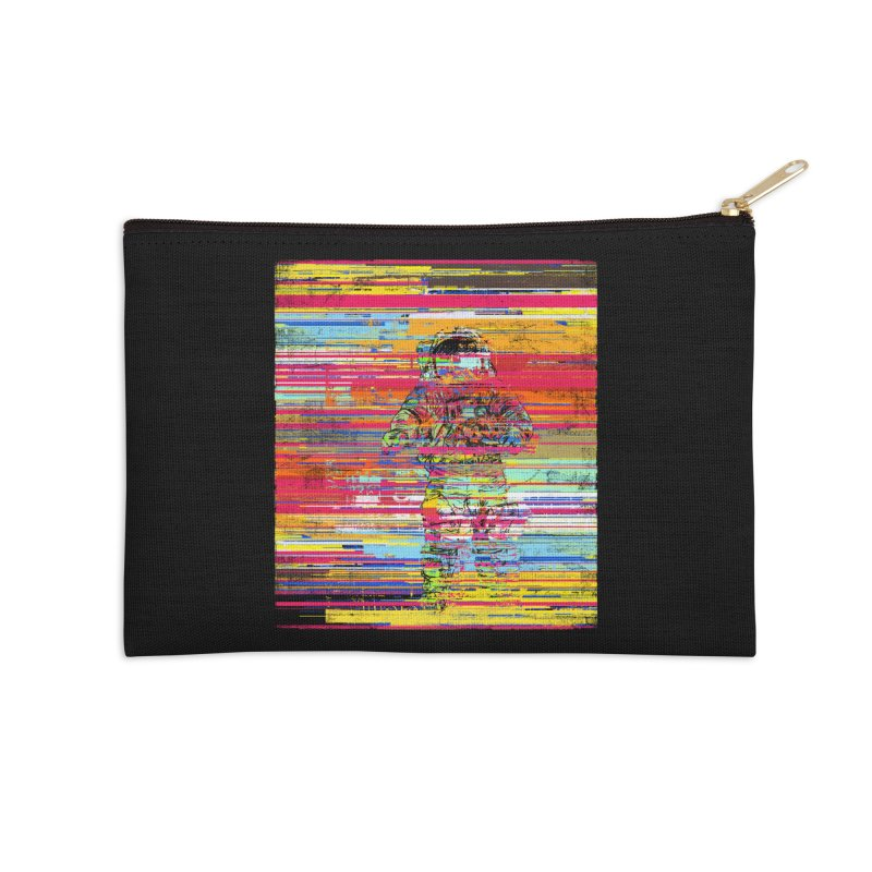 Walk On Moon Accessories Zip Pouch by bulo
