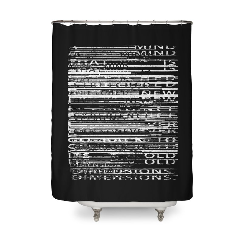 Distortion Home Shower Curtain by bulo