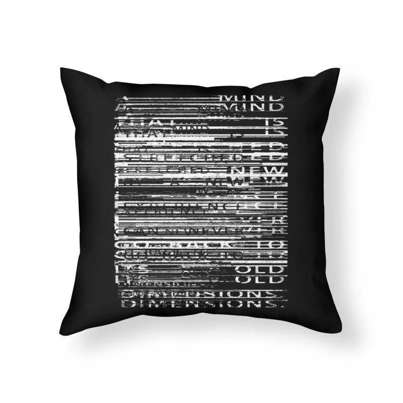 Distortion Home Throw Pillow by bulo