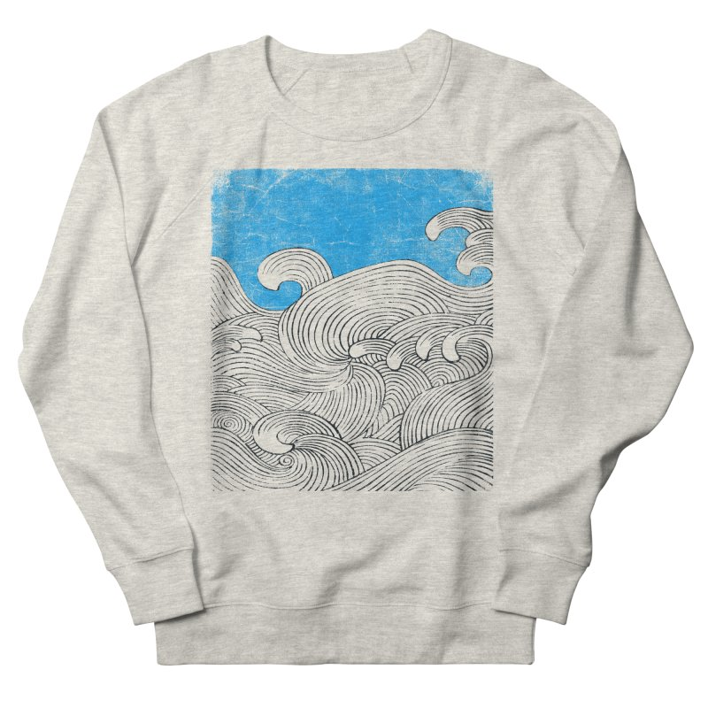 Waves Men's French Terry Sweatshirt by bulo
