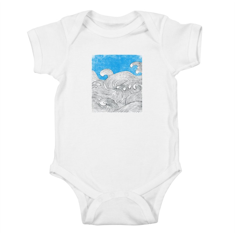 Waves Kids Baby Bodysuit by bulo