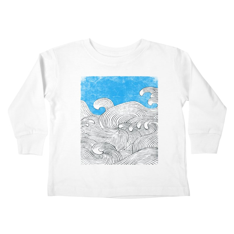 Waves Kids Toddler Longsleeve T-Shirt by bulo