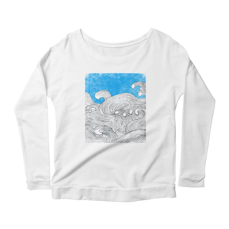 Waves Women's Scoop Neck Longsleeve T-Shirt by bulo