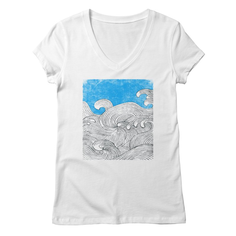 Waves Women's Regular V-Neck by bulo