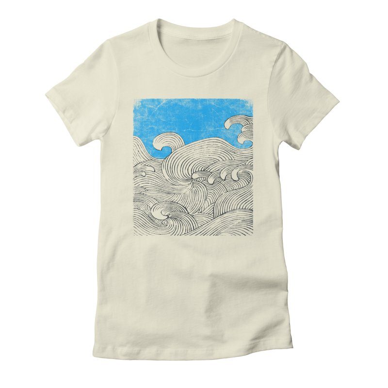 Waves Women's Fitted T-Shirt by bulo